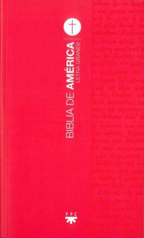 Biblia de América. Letra Grande [Roja]