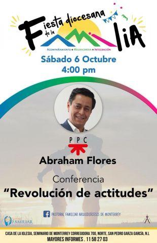 """Conferencia """"Revolución de actitudes"""" con Abraham Flores en la Fiesta Diocesana de la Familia."""